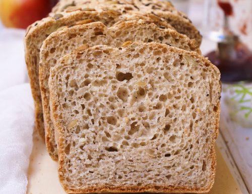 Pan bauletto integrale senza glutine ai semi
