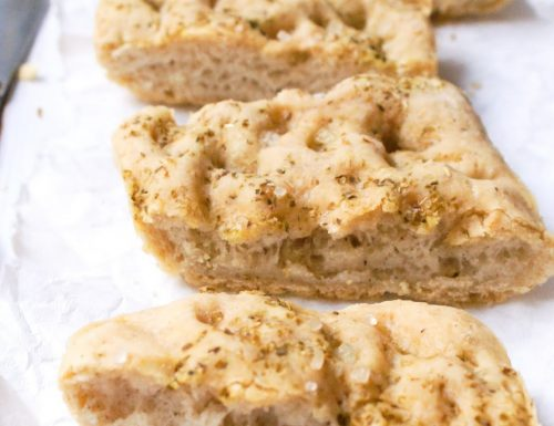 Focaccia bianca senza glutine con farine naturali