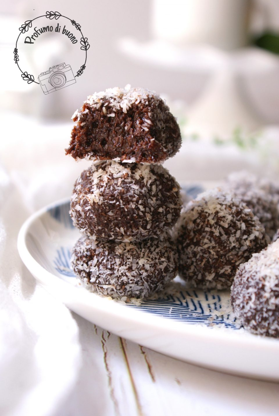 Gluten free vegan coconut fudge balls