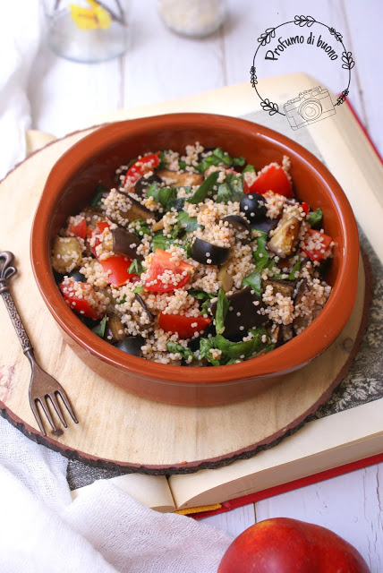 Gluten free vegan couscous salad