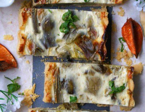 Crostata salata ai carciofi senza glutine