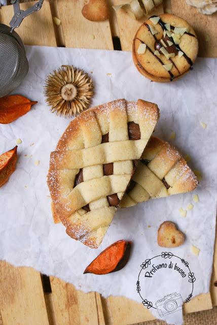 crostatine integrali senza glutine con grano saraceno e crema di nocciole