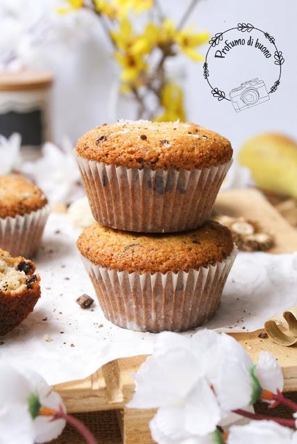 Muffin al cocco e cioccolato senza glutine
