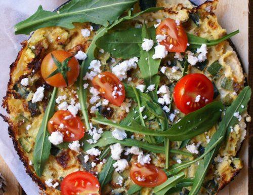 Frittata vegan senza glutine di ceci e zucchine