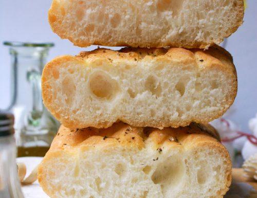 Impasto con Mix B senza glutine: focaccia e pane