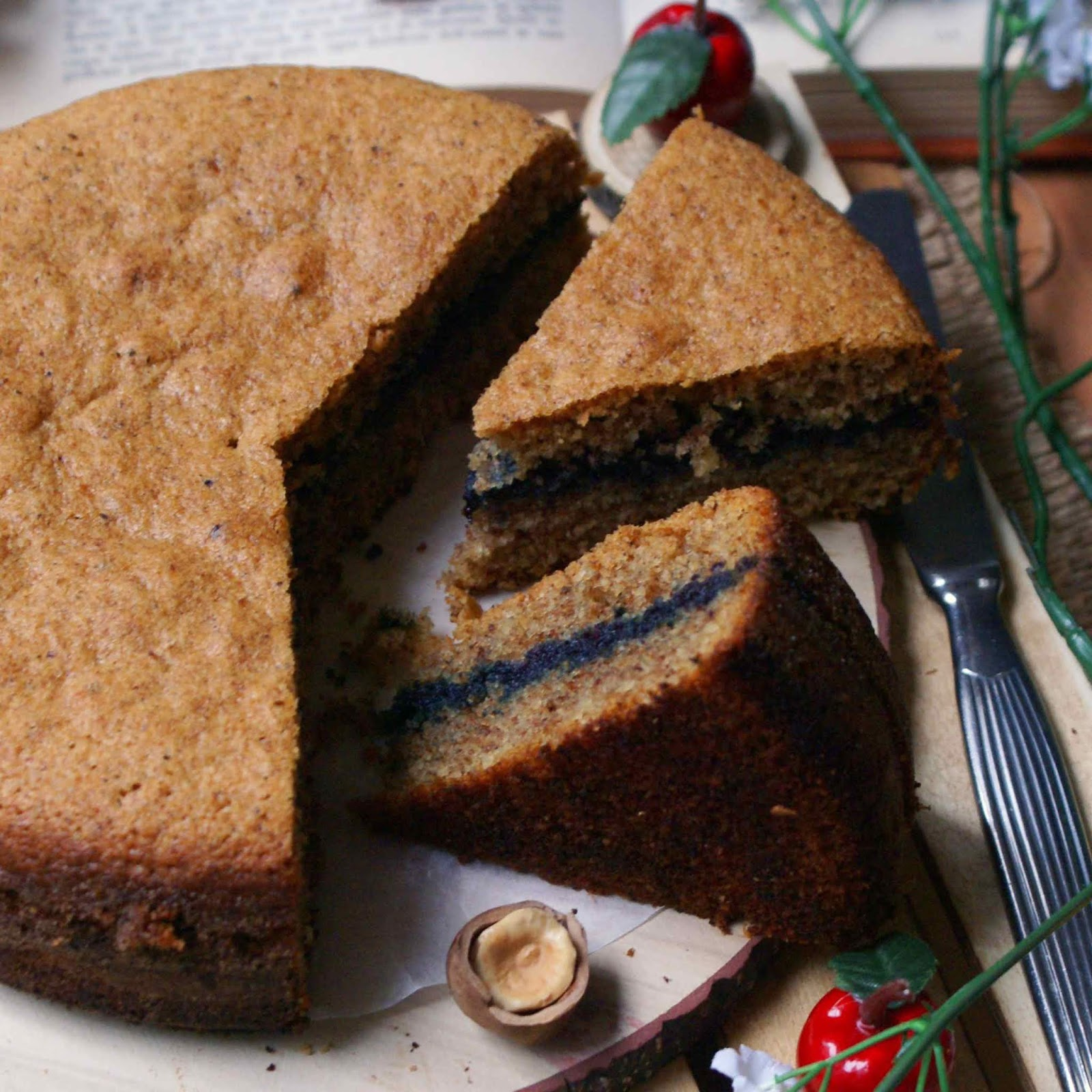 Torta al grano saraceno con marmellata senza glutine
