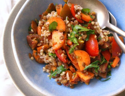 Vegan gluten free grain salad