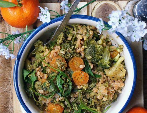 Legumotti con carote, broccoli e rucola