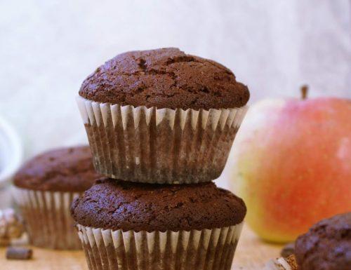 Muffin al cacao senza glutine con gocce di cioccolato