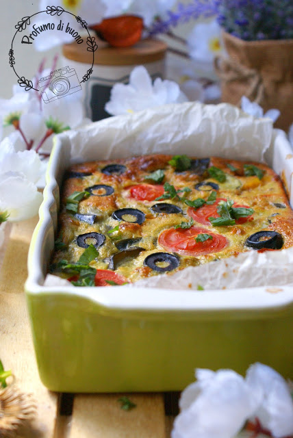 Gluten free baked mediterranean frittata