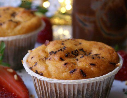 Muffin ripieni al cioccolato senza glutine