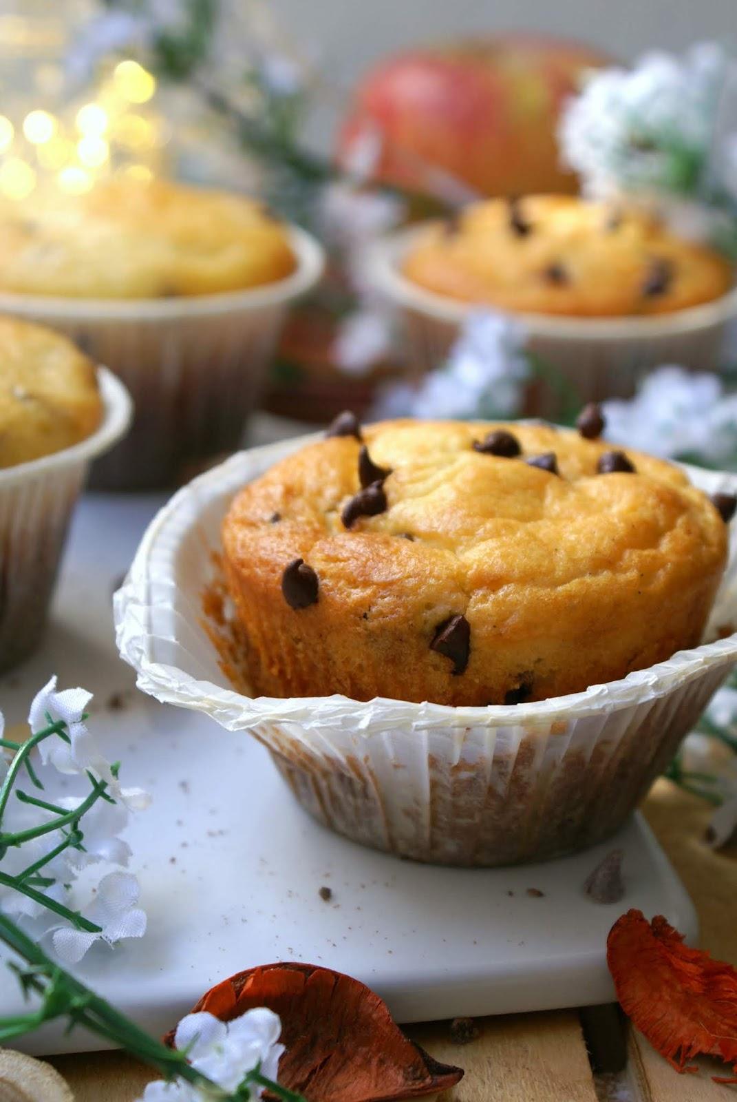 Muffin allo yogurt senza glutine con gocce di cioccolato