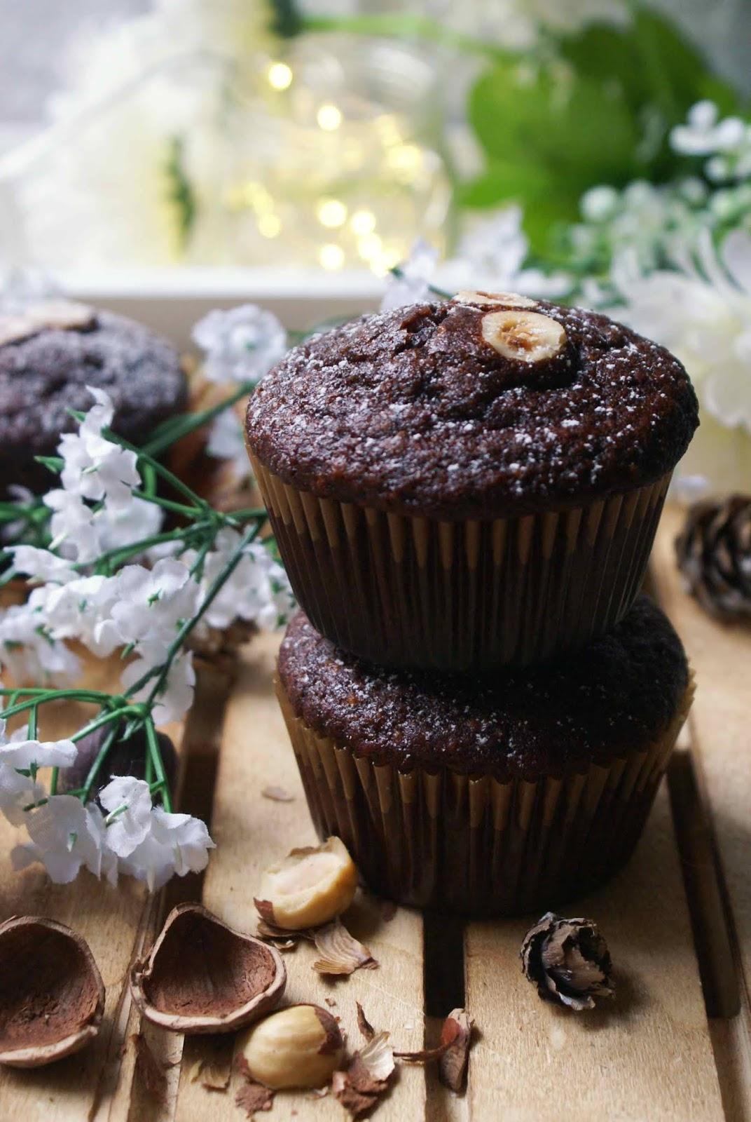 Muffin nocciole e cacao senza glutine