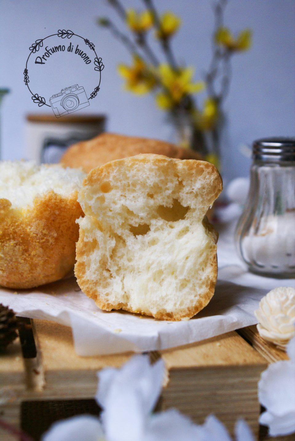Impasto con Mix B senza glutine: focaccia e pane  per panini bianchi