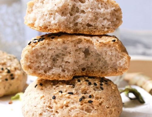 Panini integrali senza glutine con farine naturali