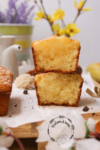 Mini plumcake al limone e philadelphia senza glutine con zucchero a velo