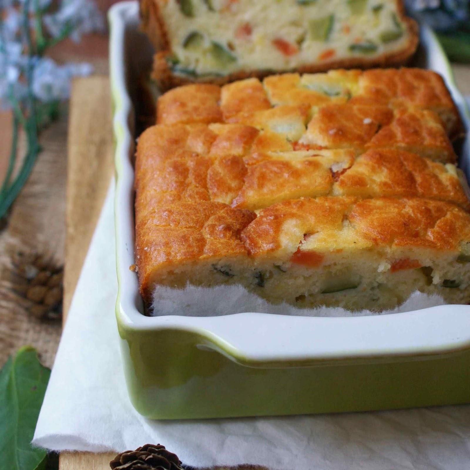 Gluten free savory veggie cake