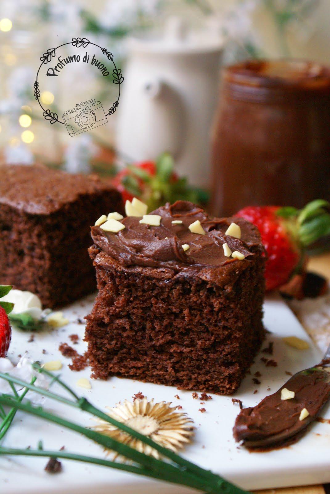 Quadrotti panna e cacao senza glutine
