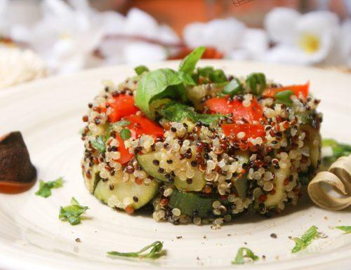 Gluten free mediterranean quinoa salad