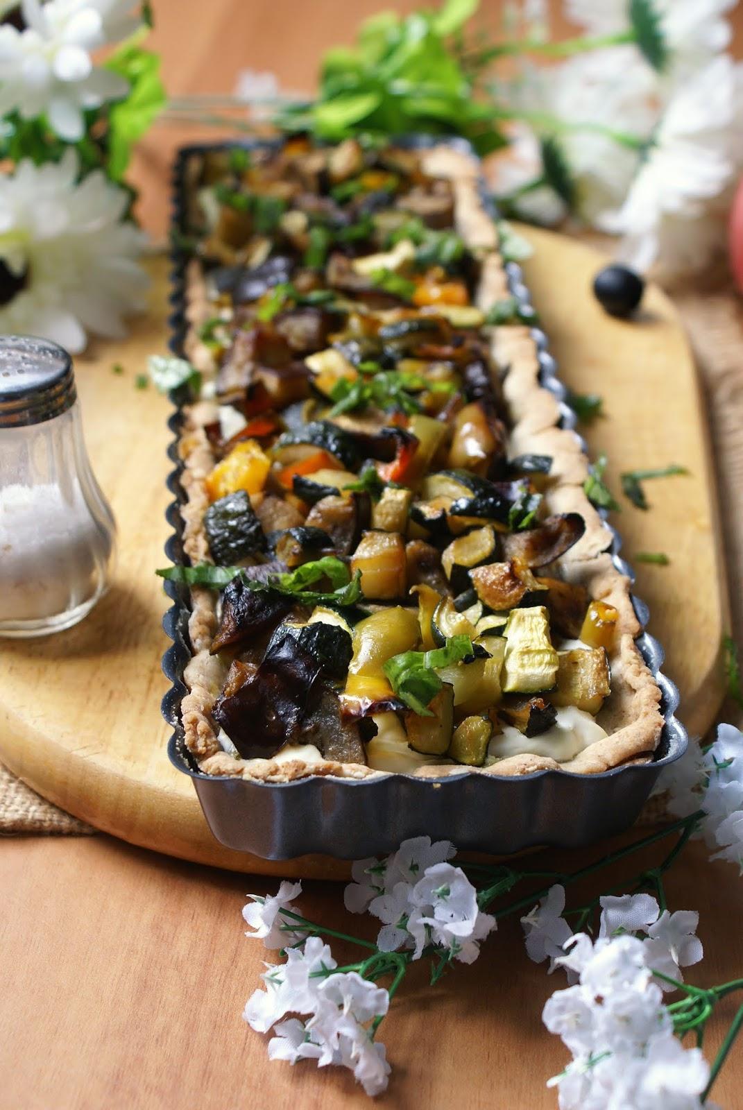 Crostata salata con verdure senza glutine