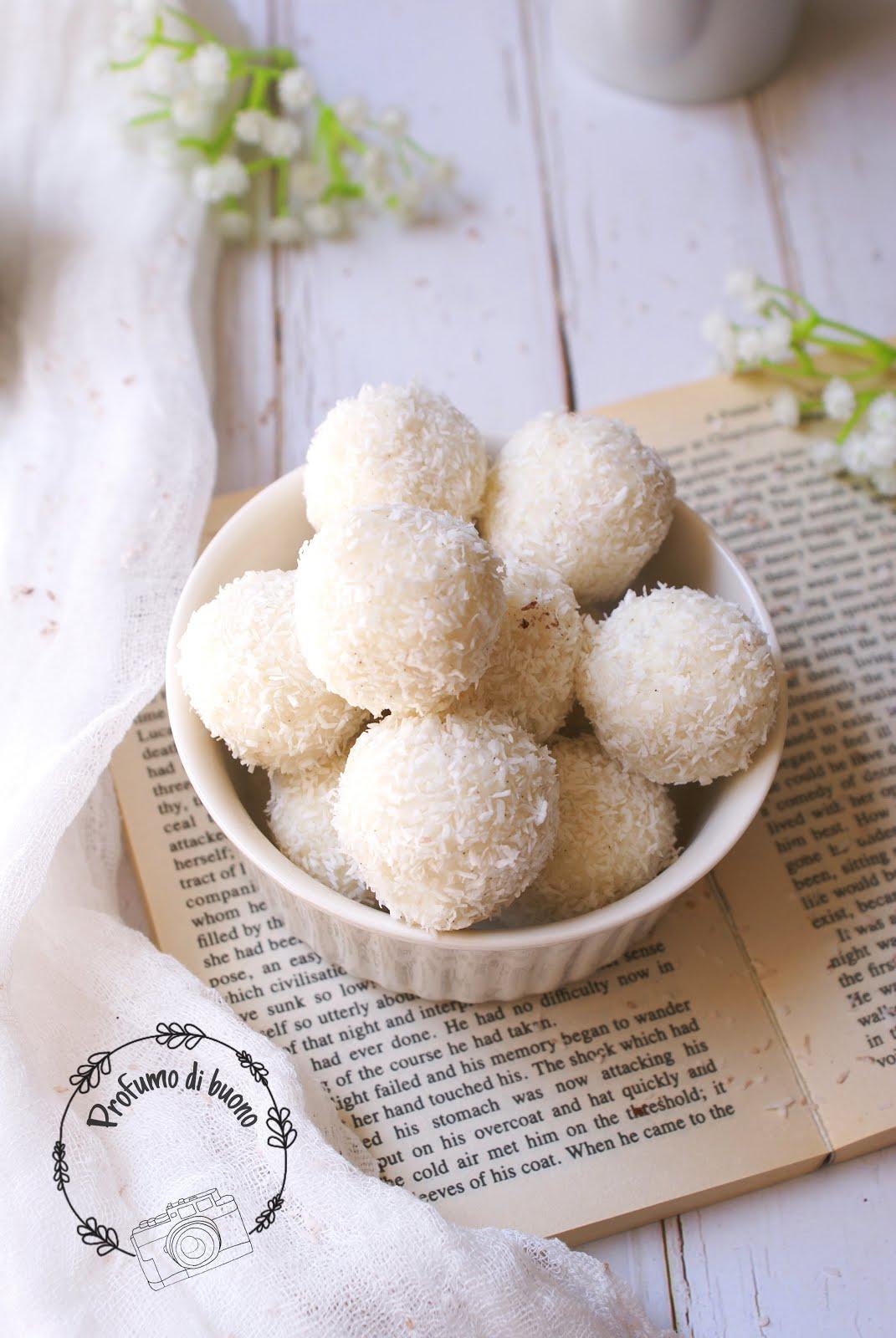 No bake coconut ricotta fudge balls
