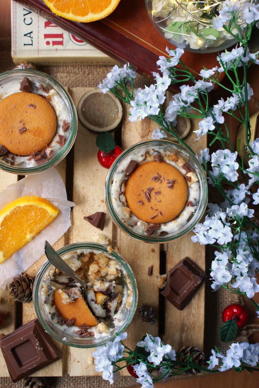 Crema di ricotta all'arancia e cioccolato