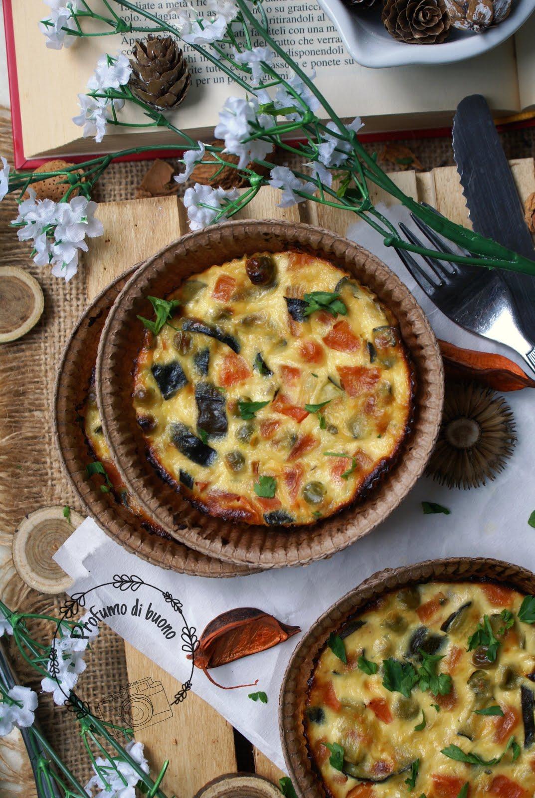 Sformatini di verdure e formaggio con prezzemolo fresco