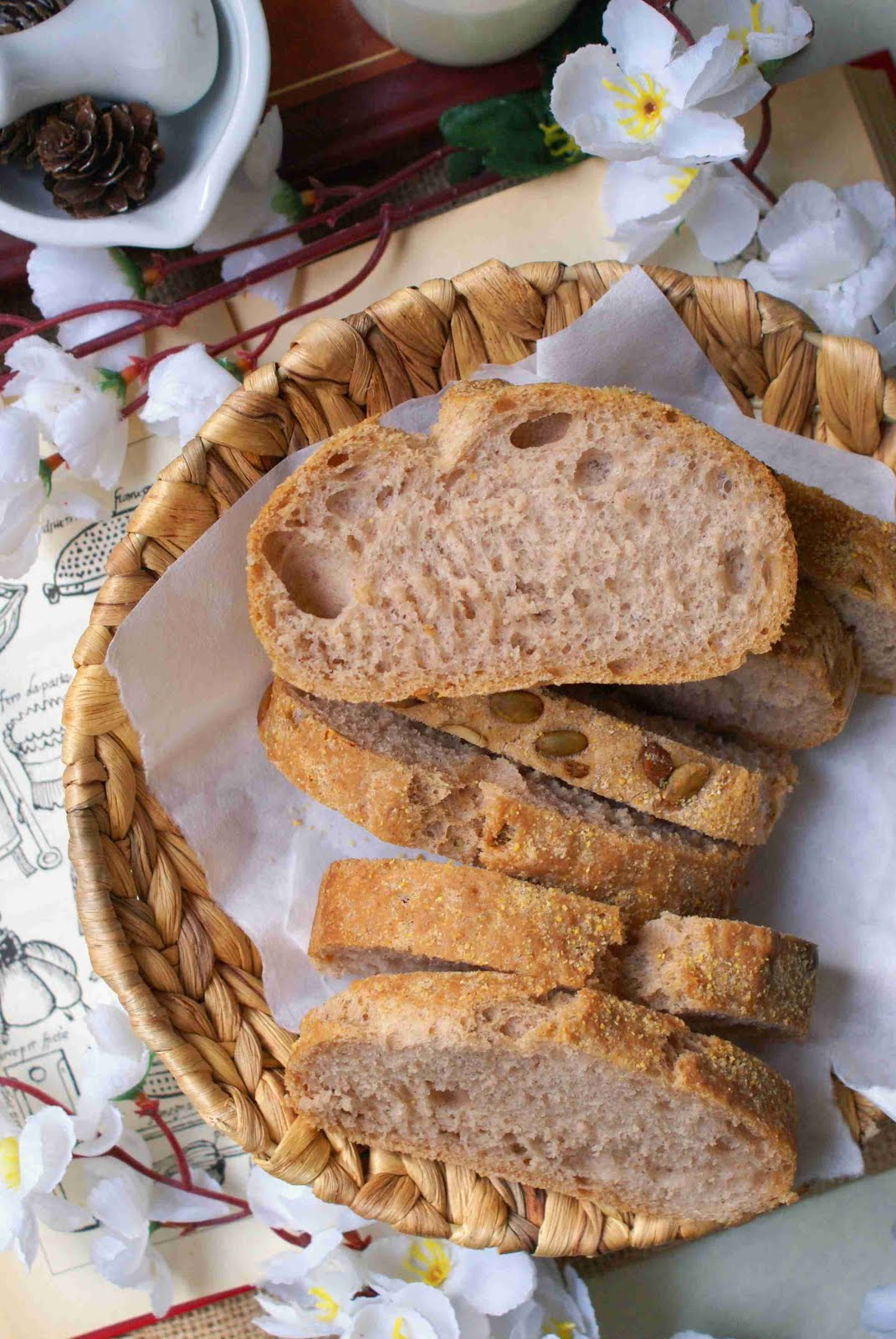 Pane rustico senza glutine con semi di zucca
