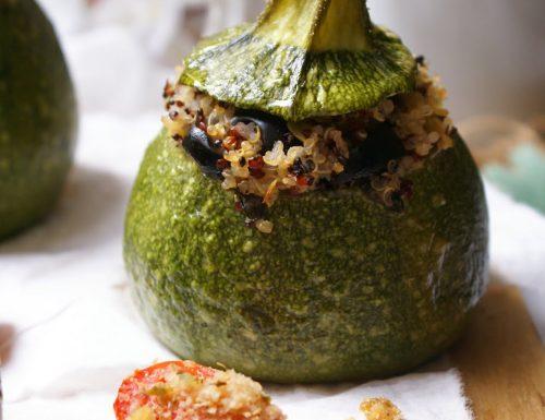 Zucchine ripiene di quinoa tricolore