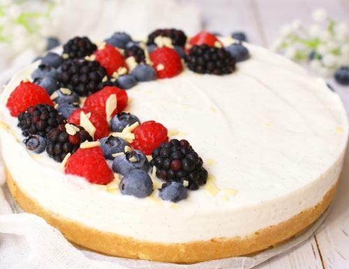 Torta fredda allo yogurt senza glutine