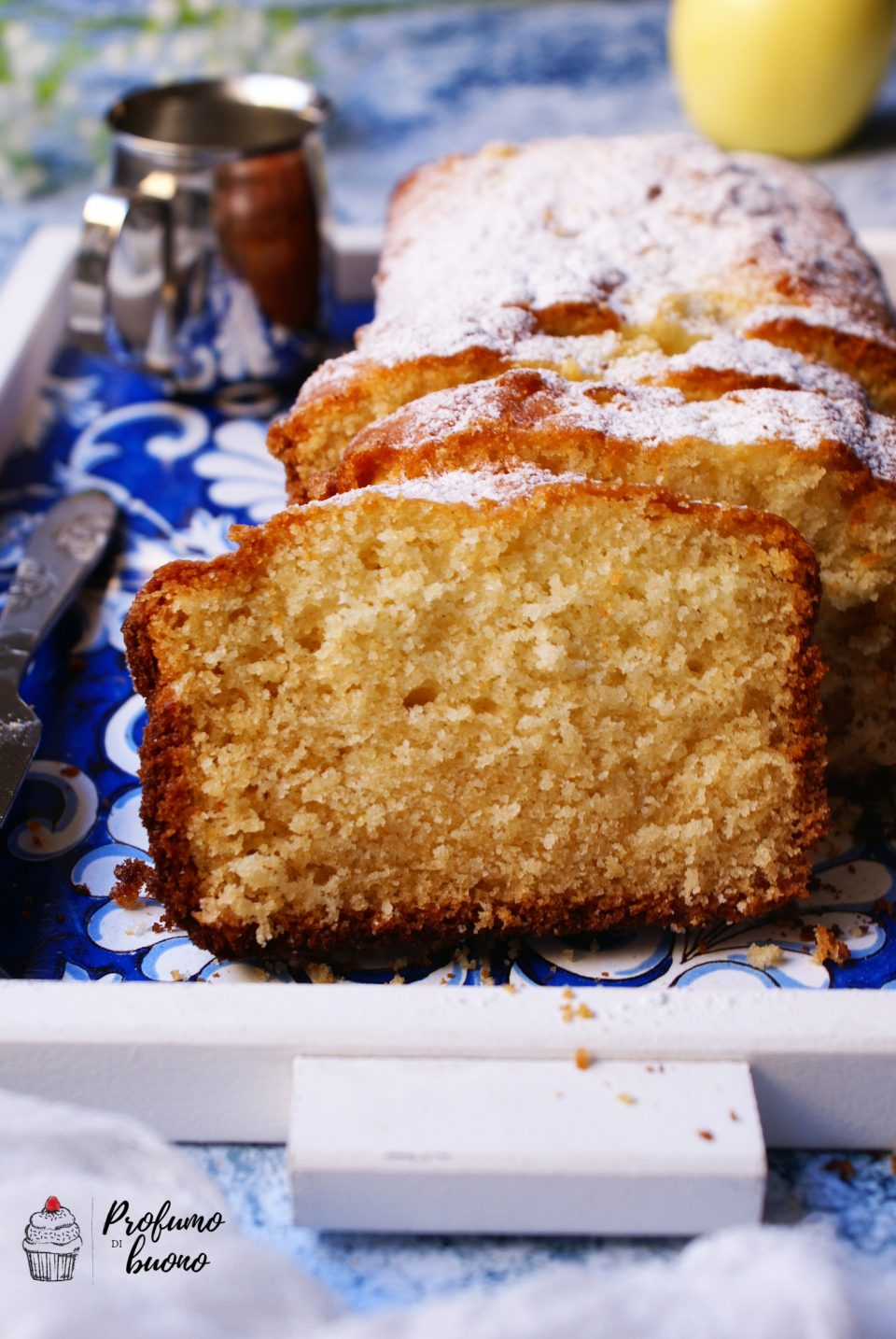 Plumcake sette vasetti senza glutine con zucchero a velo