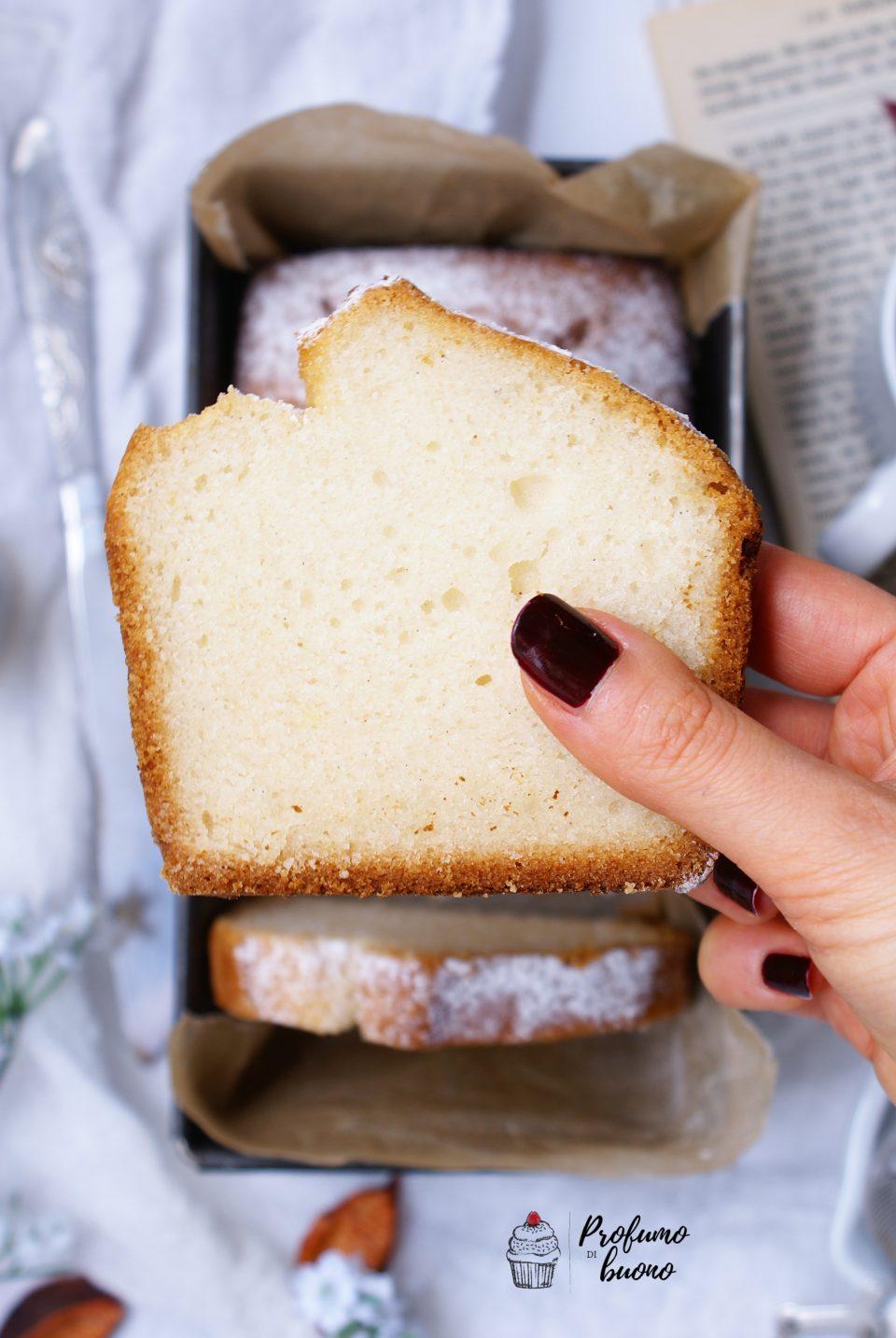 Plumcake vegan senza glutine con zucchero a velo