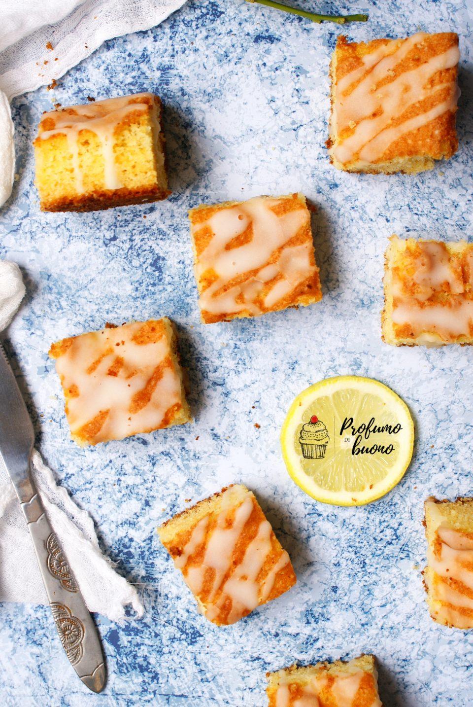 Trancetti al limone senza glutine con glassa al limone