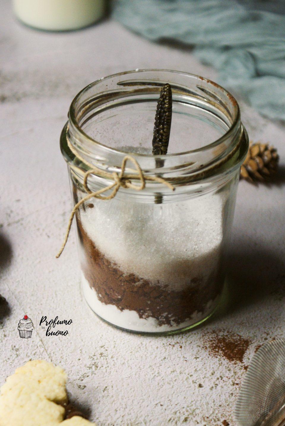 Cioccolata calda senza glutine in barattolo