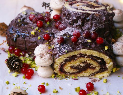 Gluten free Yule Log, the classic Christmas dessert