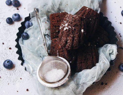 Madeleine senza glutine al cioccolato