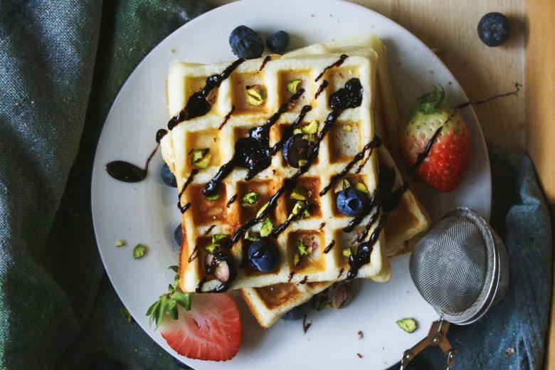 Waffle senza glutine allo yogurt