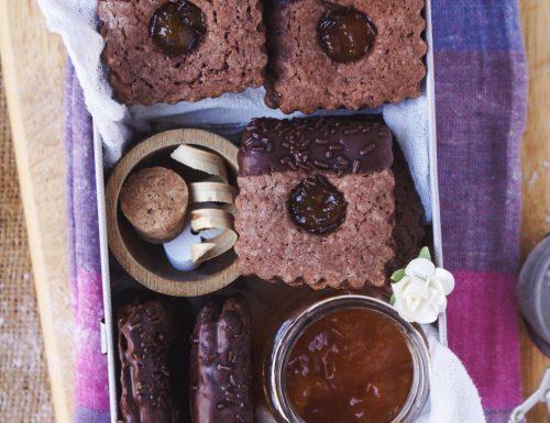 Biscotti Sacher senza glutine con farine naturali